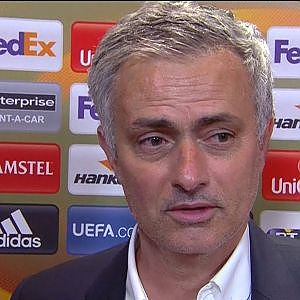 Ajax 0-2 Manchester United - Jose Mourinho Post Match Interview - YouTube