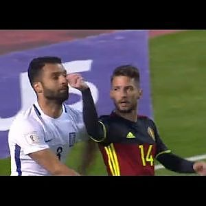 Mertens Funny Yellow Card-Belgium vs Greece 0-1 World Cup Qualifying 2018 (25-3-17) - YouTube
