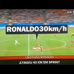 RONALDO CR7 SPRINT PORTUGAL VS SPAIN 40KM/H FASTEST PLAYER AT 33 YEARS OLD??? - YouTube