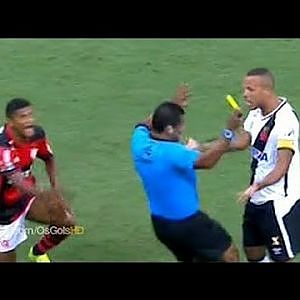 In Brazil, even referees fake injuries (Luis Fabiano's red card today) - YouTube