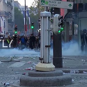 France: Paris celebrations marred by violence after WC final win - YouTube