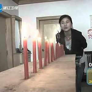 Chinese Man Attempts Real-Life Energy Blast on Defenseless Candles 郑州奇人 拳头吹灭蜡烛 - YouTube