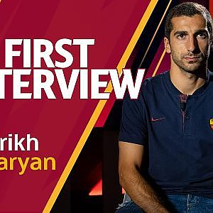 WELCOME HENRIKH | Mkhitaryan's first Interview with AS Roma - YouTube