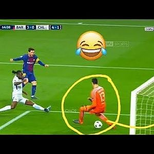 Lionel messi humiliate tibo courtois with 2 inblievble goals (  barca vs chelsea ) - YouTube