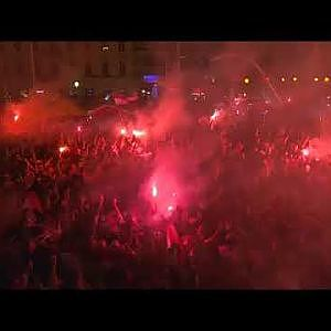 Croatia fans reactions after winning England - YouTube