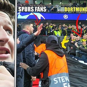BORUSSIA DORTMUND FANS RUN OVER TO SPURS END | BVB vs Spurs Vlog - YouTube