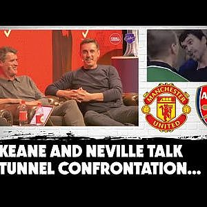 Keane and Neville | Tunnel incident with Arsenal 'bullies' revisited | #MUFC - YouTube