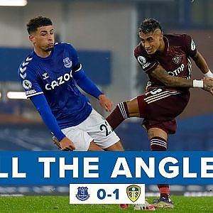 Raphinha scores first goal for Leeds United against Everton! | All The Angles - YouTube