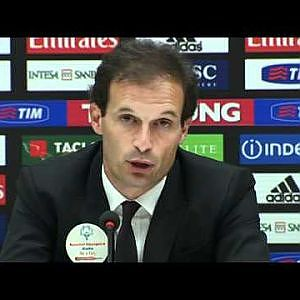Allegri: 'We were able to keep the things opened' - YouTube
