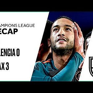 Valencia 0-3 Ajax: Champions League Group H Recap with Goals and Best Moments - YouTube