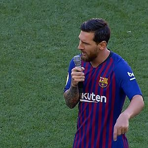 Lionel Messi Champions League Speech at Camp Nou -English CC- - YouTube