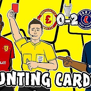 POGBA RED CARD - Counting Cards! Man Utd vs PSG 0-2 Parody Song Goals Highlights - YouTube