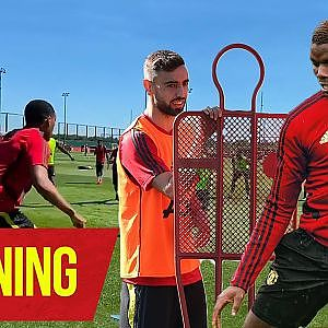 Training | Pogba and Bruno practice free kicks together | Manchester United - YouTube