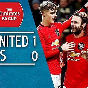 Man United 1-0 Wolves: Juan Mata saves the day! | FA Cup Highlights - YouTube