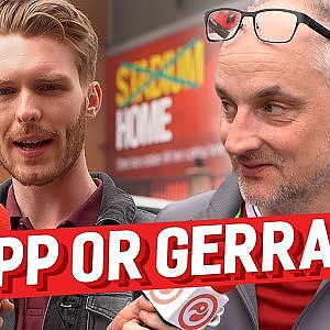 Would you rather Jurgen Klopp or Steven Gerrard as Manager? Liverpool fans quizzed - YouTube