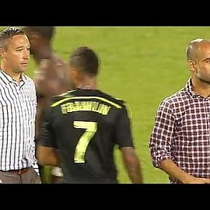 Pep Guardiola Niega darle la mano a entrenador de la Mls. / Bayern Munich vs Mls All Stars - YouTube