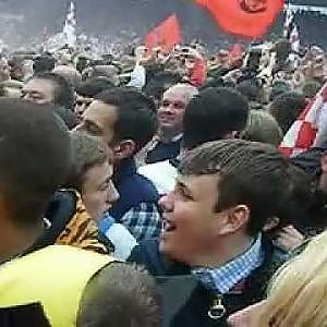 Saints Pitch Invasion after promotion to the Premier League - YouTube