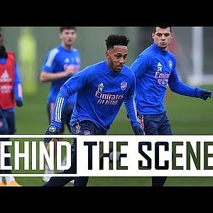 Aubameyang looking sharp and Martinelli is back! | Behind the scenes at Arsenal training centre - YouTube