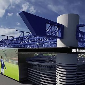 Paint it Blue by Dontstop Architettura - Stadio Meazza San Siro - YouTube